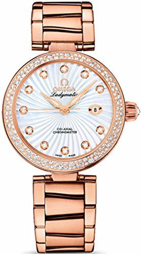 Omega Deville Ladymatic Mother of Pearl Dial 18kt Rose Gold Ladies Watch 4256534...