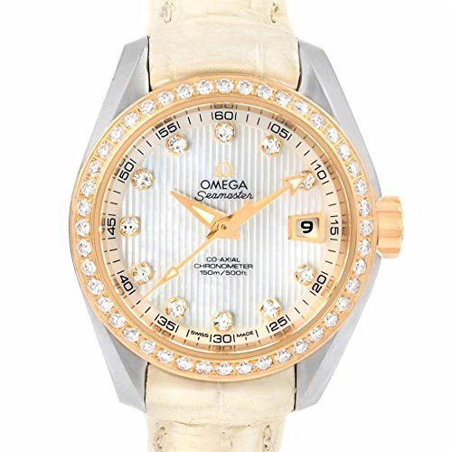 Omega Seamaster automaticselfwind womens Watch 23128302055001 Certified Preowned...