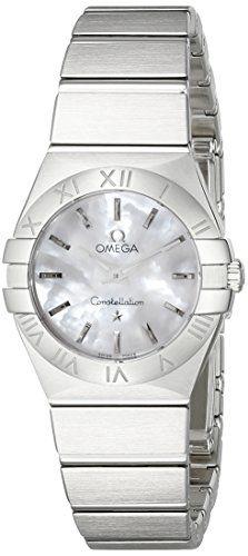 Omega Womens 12310246005001 Constellation Analog Display Swiss Quartz Silver Wat...