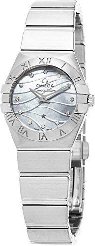 Omega Womens 12310246055003 Constellation Analog Display Swiss Quartz Silver Wat...