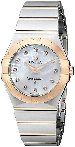Omega Womens 12320276055001 MotherOfPearl Dial Constellation Watch *** Click ima...