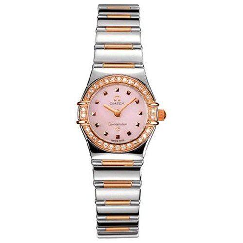 Omega Womens 13687300 Constellation My Choice Quartz Mini Diamond Bezel Watch --...