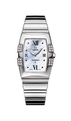 Omega Womens 15867000 Constellation Quadrella Quartz Watch ** Click image for mo...