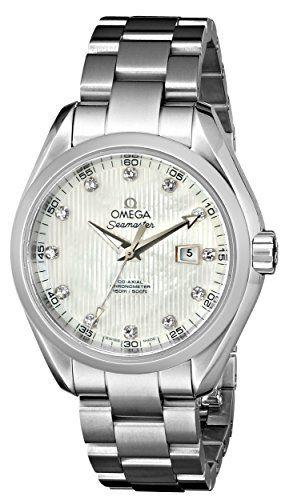 Omega Womens 23110342055001 Seamaster Aqua Terra Automatic Silicon BalanceSpring...