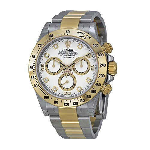 Rolex Daytona Steel and Yellow Gold Watch White Diamond Dial 2016 * More info co...