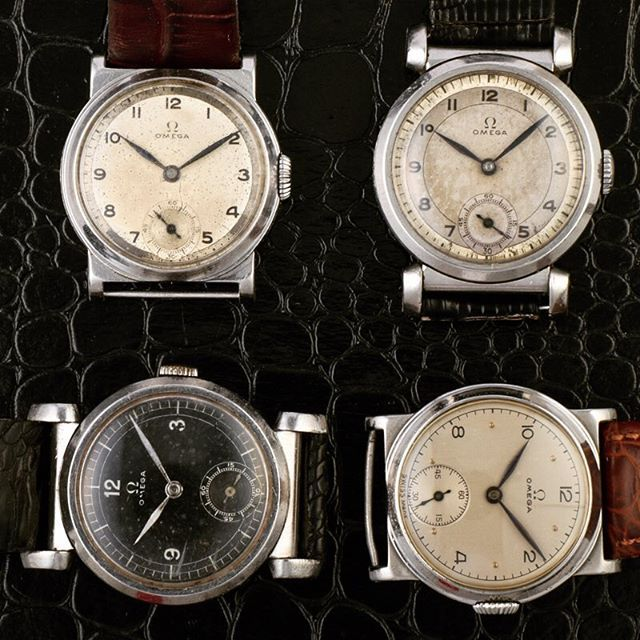 1930s Omega Fobios & Art deco, lovely simple dials with 30.5mm cases. 🔴www.ti...