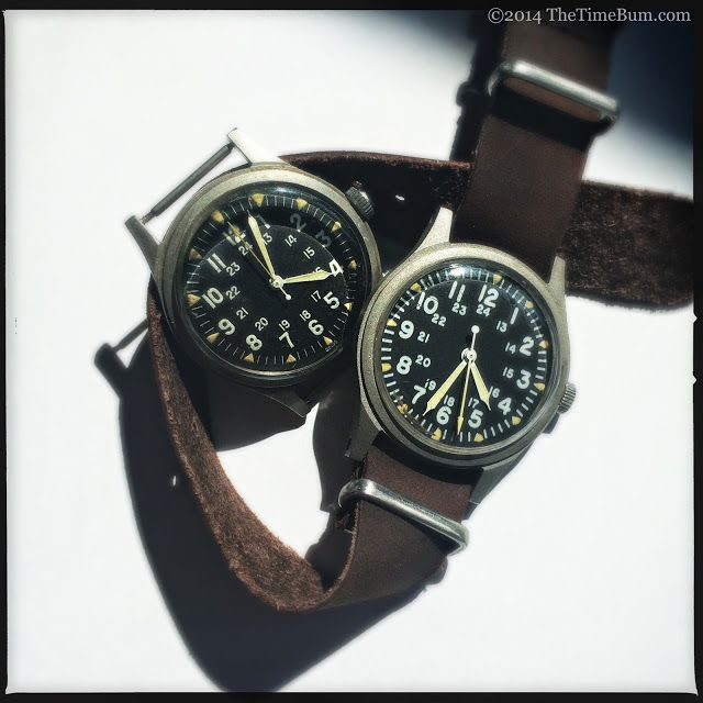 1969 Benrus (left), 1979 Hamilton (right) GG-W-113
