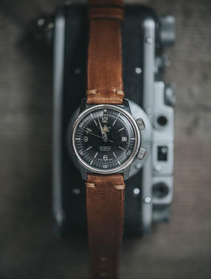 1970's DELVINA Super Compressor Swiss Automatic Divers watch