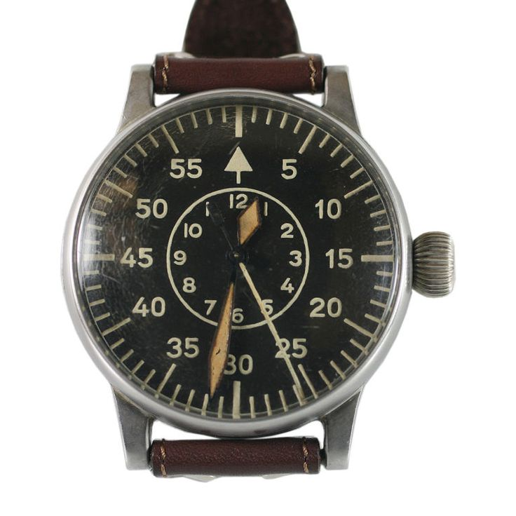 A.Lange & Sohne Military Watch Ref. FI 23883 German 1940s A great example of a W...