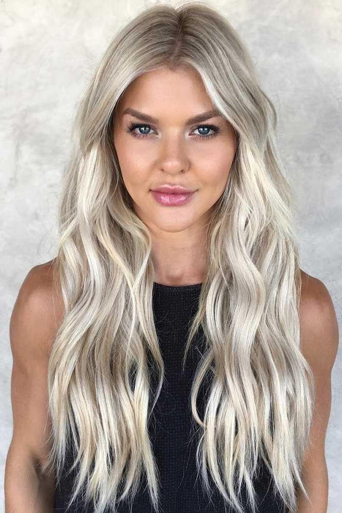 Platinum Blonde Hair With Honey Blonde Highlights #blondehair #highlights  ❤...