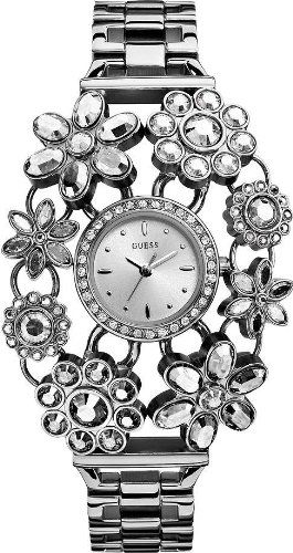 GUESS Silver-Tone Crystal Bouquet Watch * Check out this great product. (This is...