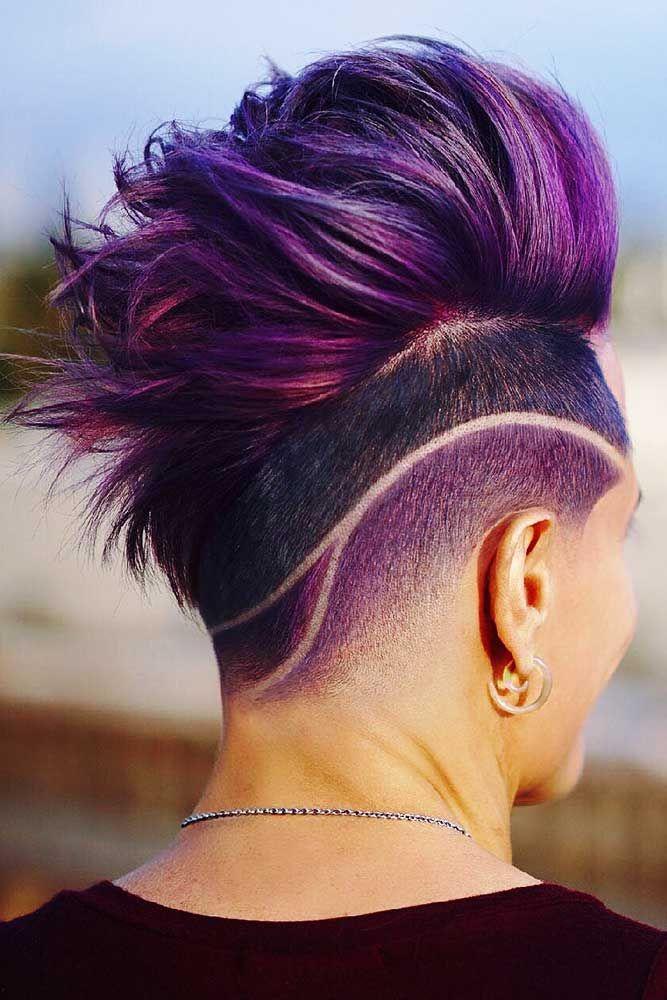 Hair Color 2017 2018 Black With Purpura Purple Highlights