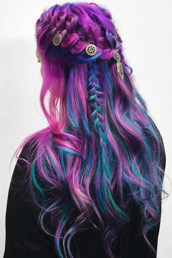Blue Locks With Violet Shades #bluehair #violethair ❤️ Read on to discover t...
