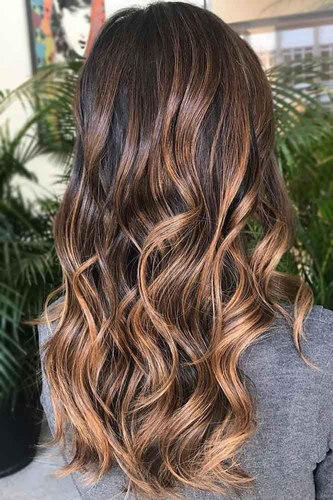 Chestnut Brown Highlights #highlights #brunette #brownhair ❤️ Pick brown hai...