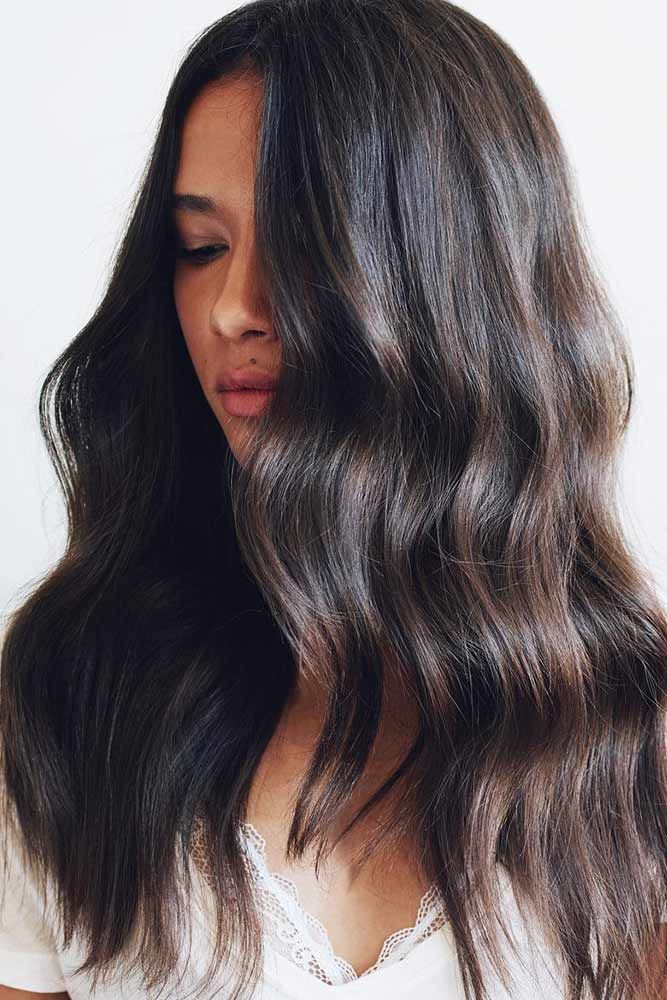 Cold Coffee Brunette #lowlights #brunette ❤️ If you want to make your hair c...