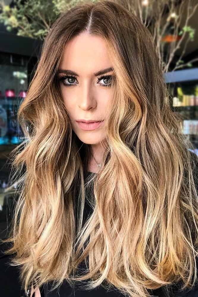 Golden Highlights #brownhair #blondehair #highlights ❤️ See light brown hair...