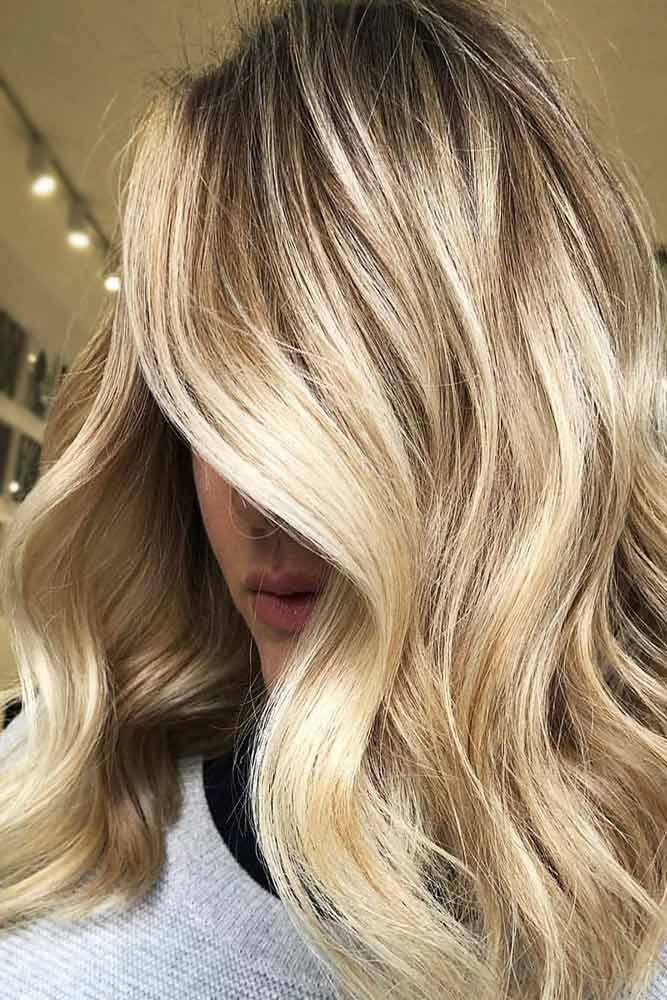 Golden Platinum Blonde Hair With Blonde Lowlights #blondehair #highlights ❤️...