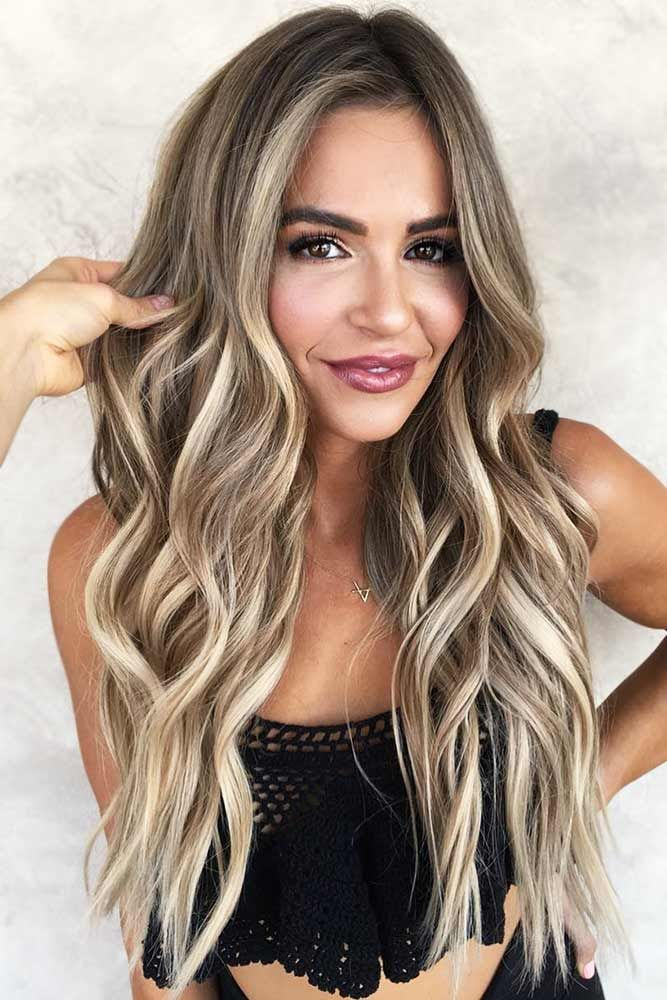 Light Ash Brown Hair with Babylights #brunette #blondehair #highlights ❤️ Se...