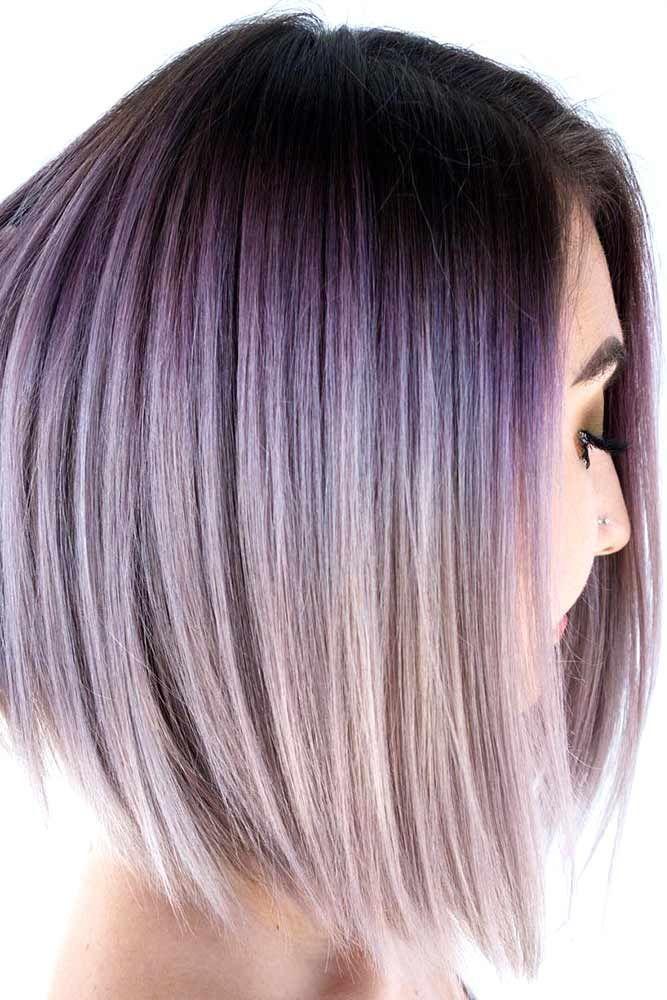 Lilac Ombre Hair #lilachair #purplehair #ombre ❤️ Chocolate lilac hair has b...