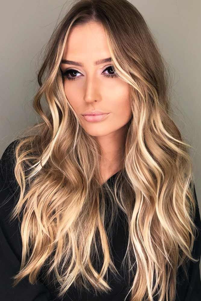 Hair Color 2017 2018 Medium Brown Hair With Buttery Blonde