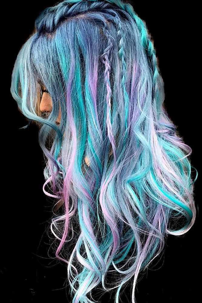 Mermaid Rainbow Hair #rainbowhair #mermaidhair  ❤️ Today rainbow hair is ava...