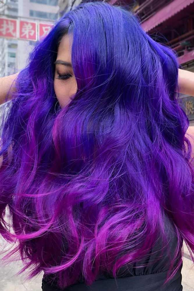 Purple Galaxy Tones Ends #galaxyhair #purplehair ❤️ Are you ready to discove...