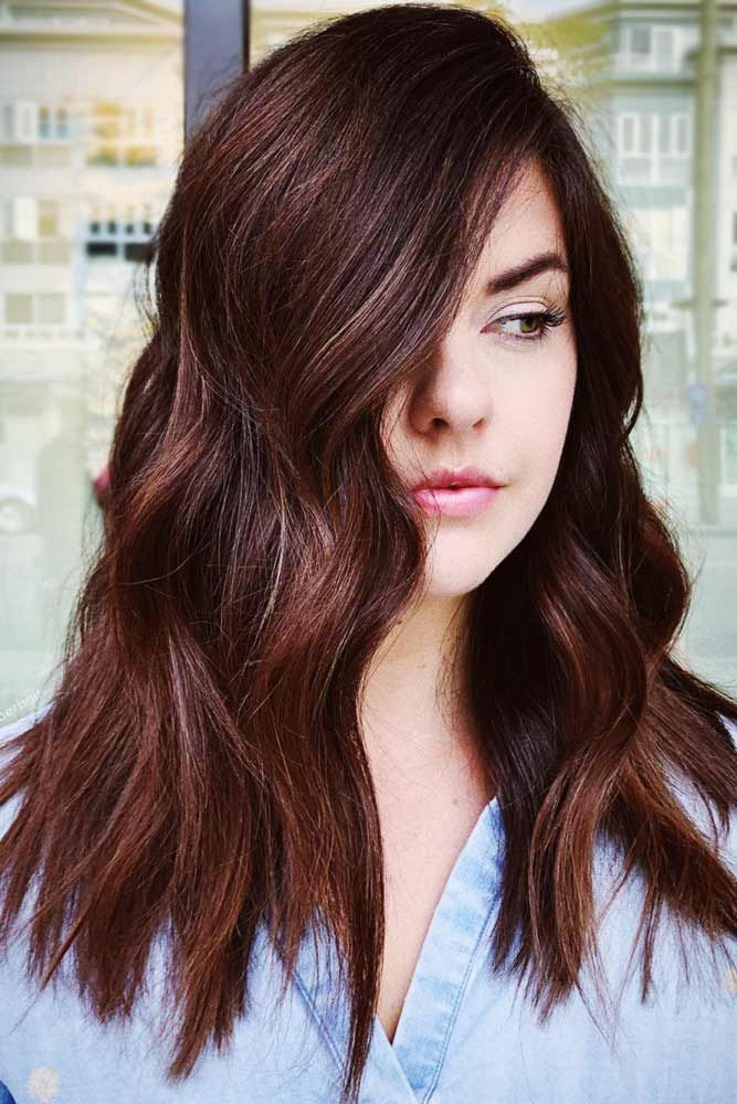 Reddish Mahogany Lowlights #lowlights #brunette #redhair ❤️ If you want to m...