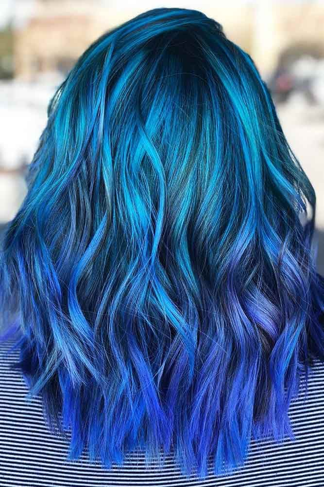 Sea Nymph Blue #bluehair #ombre ❤️ What about blue ombre hair? In case you a...