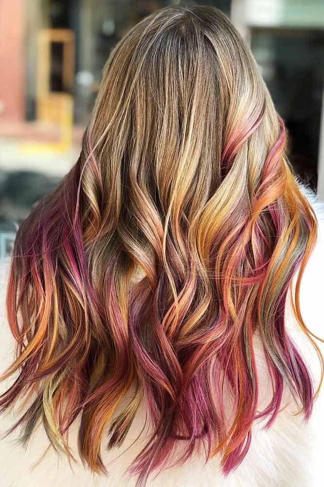 Secret Warm Tones Rainbow Hair #rainbowhair #ombre ❤️ Today rainbow hair is ...