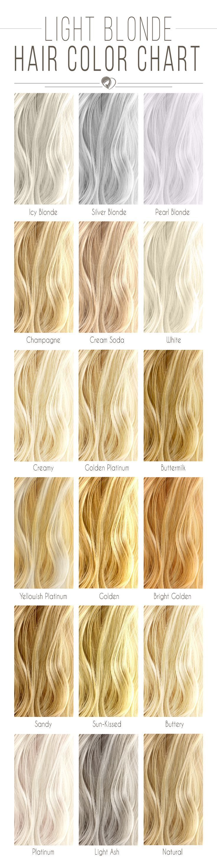 What Shade Of Blonde Hair Color Chart Suits You Best? ❤️  Let's see how di...