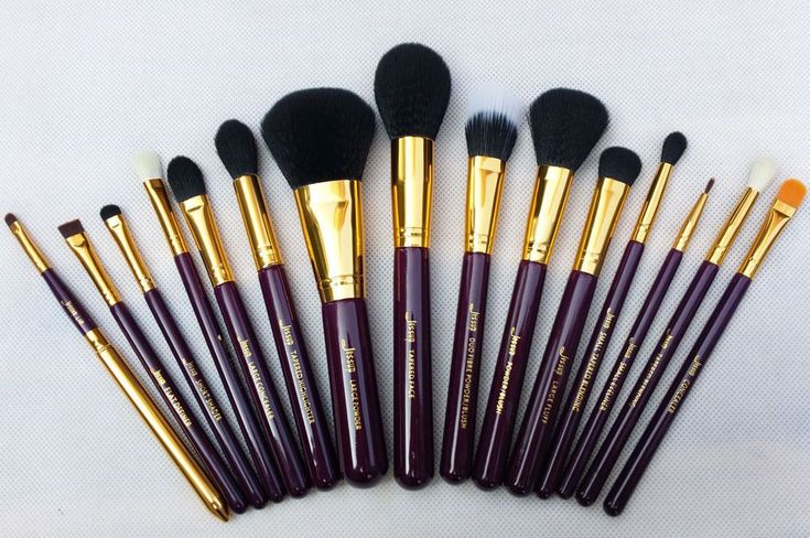 15 piece Premium Synthetic Kabuki Makeup Brush Set Cosmetics Foundation blending...