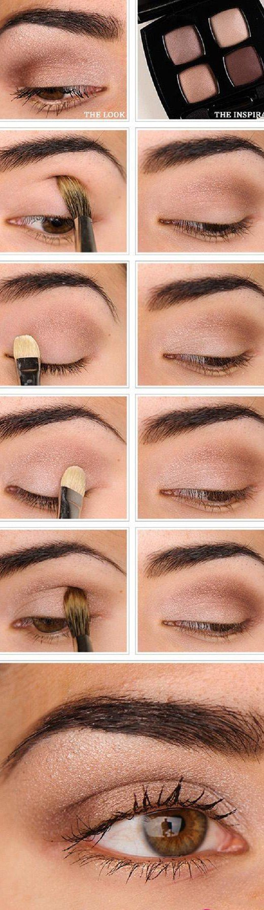 16 Easy Step-by-Step Eyeshadow Tutorials for Beginners: #15. Easy Everyday Natur...