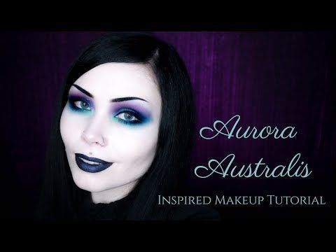 AURORA AUSTRALIS || Inspired Makeup Tutorial - Colourful Goth - YouTube