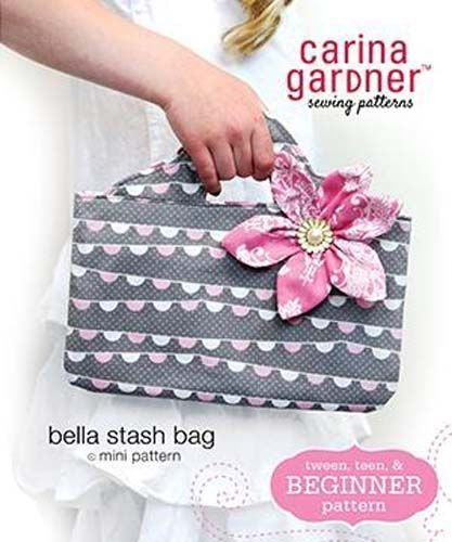 Bella Stash Bag mini pattern by Carina Gardner.  This little beauty is the perfe...