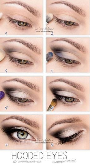 Best Eyeshadow Tutorials - Hooded Eyes - Easy Step by Step How To For Eye Shadow...