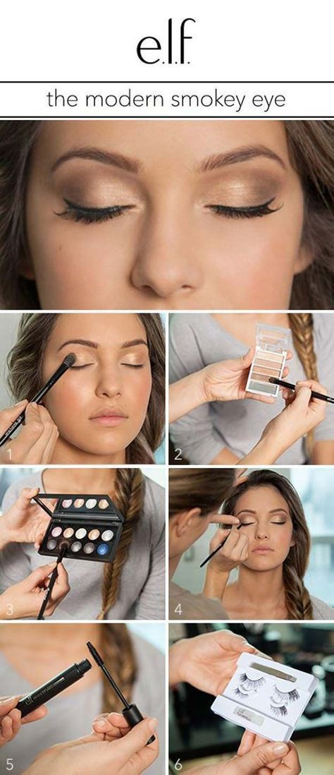 Best Eyeshadow Tutorials - The Modern Smokey Eye - Easy Step by Step How To For ...