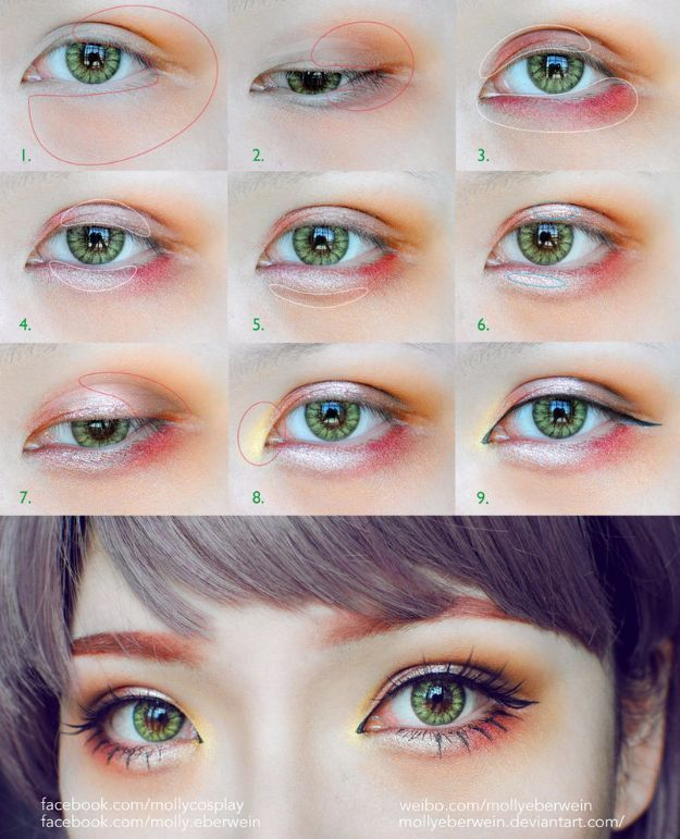 Best Korean Makeup Tutorials - Girly Dolly eyes makeup tutorial - Natural Step B...