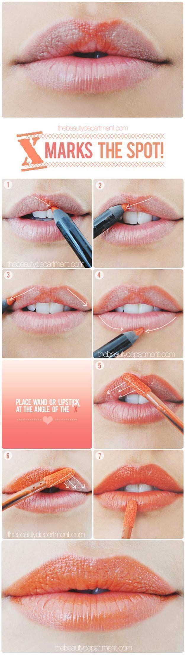 Best Makeup Tutorials for Teens -A Little Lip Trick - Easy Makeup Ideas for Begi...