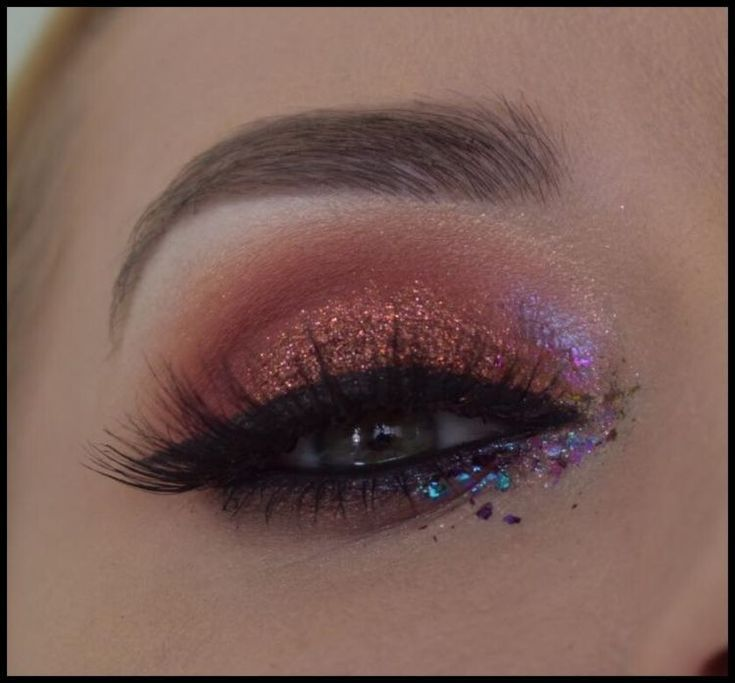 Copper & Burgundy Eye Makeup Tutorial ft. Huda Beauty Desert Dusk Palette – Gl...