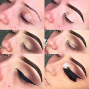Hooded Eyes Smokey Cut Crease Black Line Soft Arch Brows 500x500