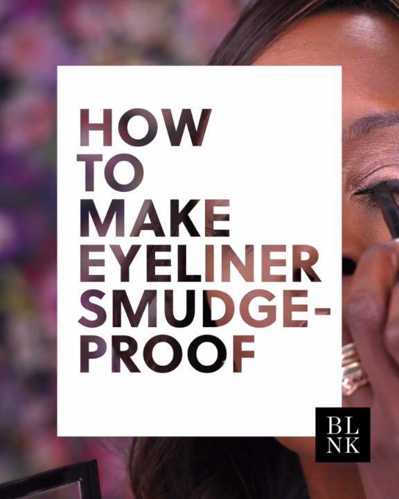How To Make Eyeliner Smudge Proof. #makeuptutorial #beautytutorial