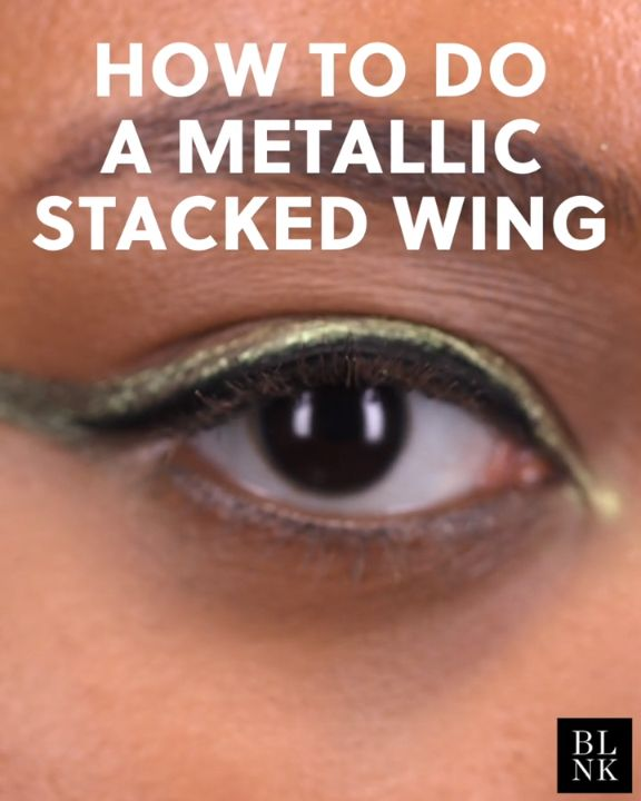 How to Do a Metallic Stacked Wing #blinkbeauty #beautytutorial #makeuptutorial #...