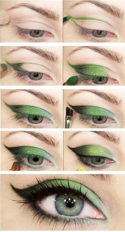 Leaf Green Eye Makeup #makeuptutorial