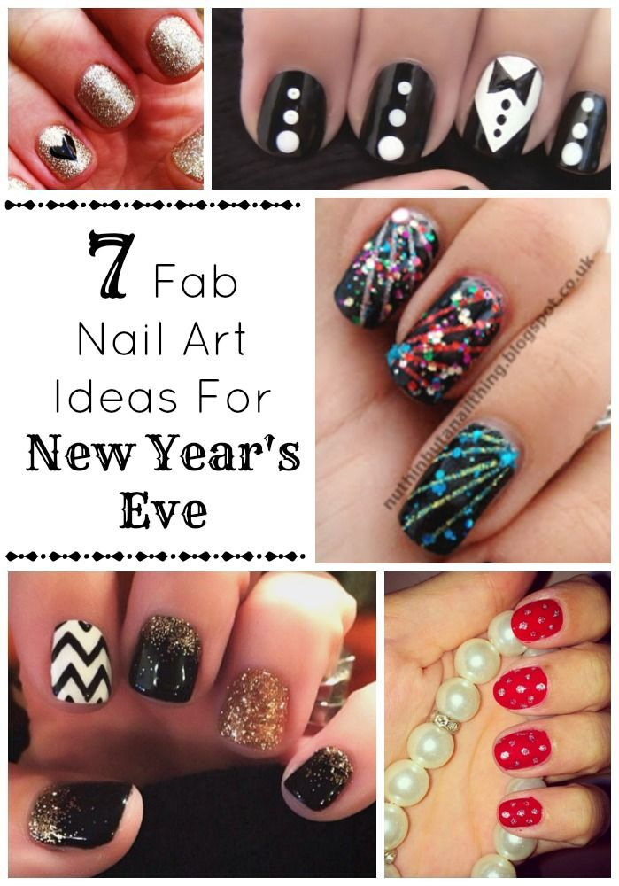 Light up your New Year's Eve with the perfect nail art. These sparkly and ch...