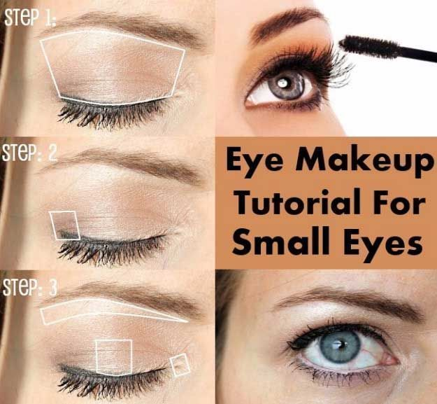 Makeup Tutorials For Small Eyes - Eye Makeup Tutorial for Small Eyes - Easy Step...