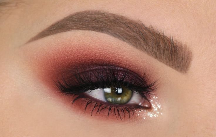 Maroon Smokey Eye | Fall Makeup Tutorial                                        ...