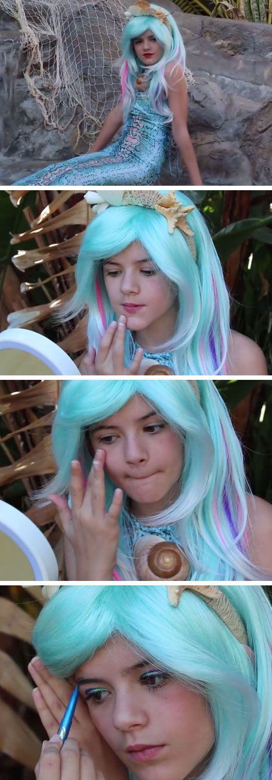 Mermaid Makeup Tutorial | 15+ Easy Halloween Costumes for Teens Girls