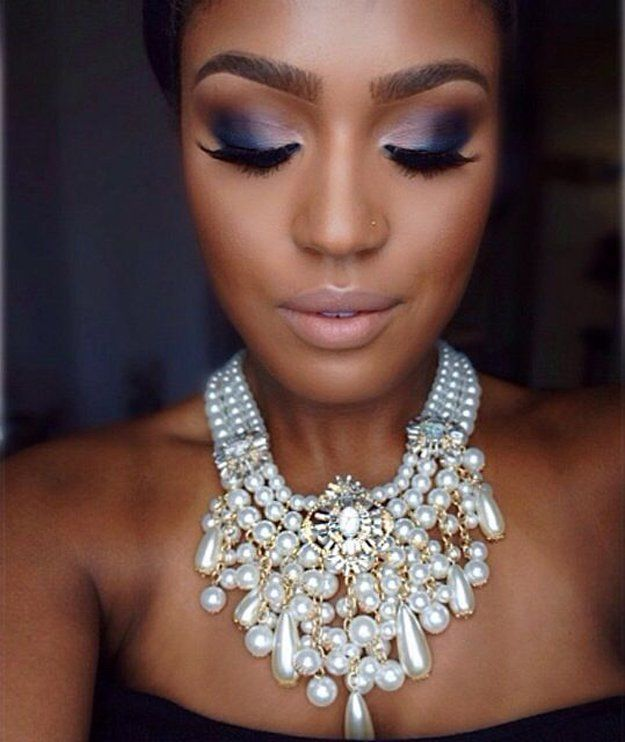 Purple Eyeshadow | Eye Makeup Ideas | Everyday Makeup Look For Dark Skin Tone by...