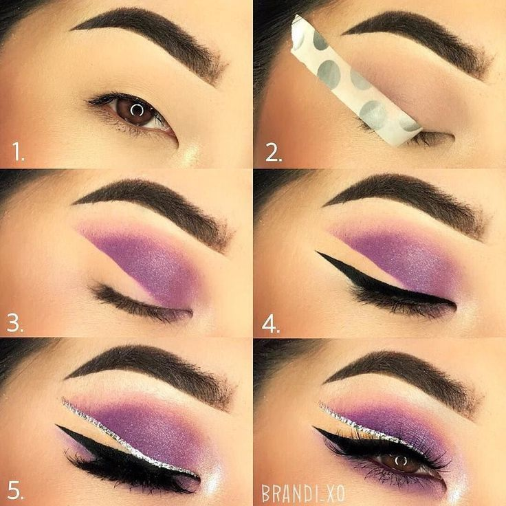 Purple invisible liner tutorial: try this step by step makeup tutorial, purple w...