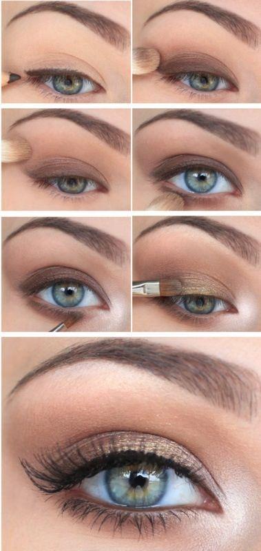 Simple an easy Victoria's Secret eye makeup.